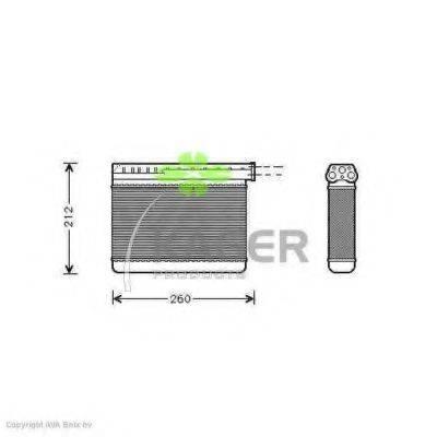 KAGER 320015 Теплообменник, отопление салона