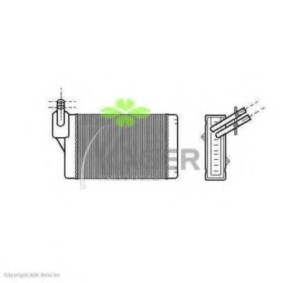 Теплообменник, отопление салона KAGER 32-0131
