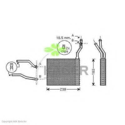 KAGER 320270 Теплообменник, отопление салона