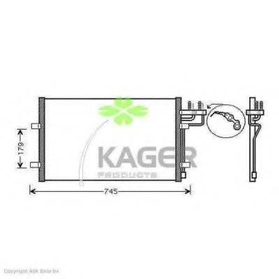 KAGER 945120 Конденсатор, кондиционер