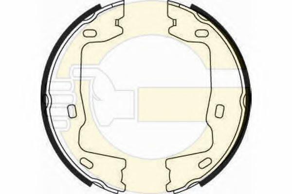 GIRLING 5182232 Комплект тормозных колодок, стояночная тормозная система