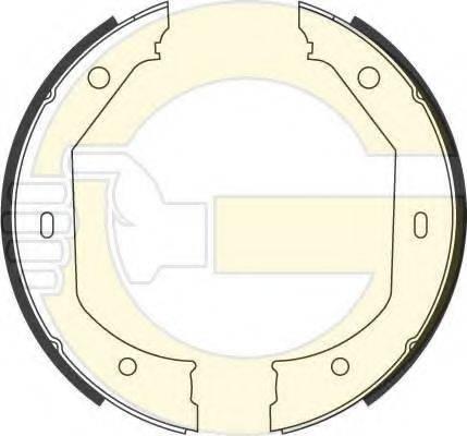 GIRLING 5186569 Комплект тормозных колодок, стояночная тормозная система