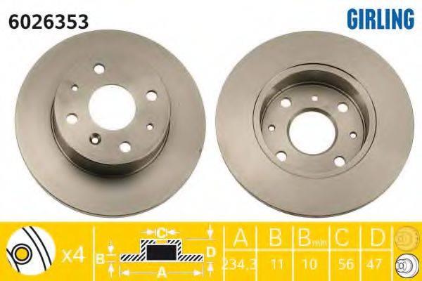 GIRLING 6026353 Тормозной диск