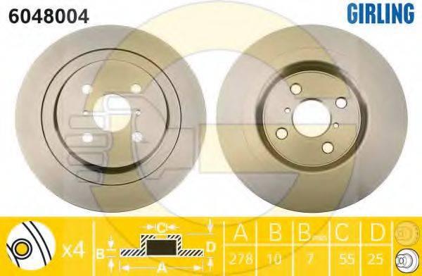 GIRLING 6048004 Тормозной диск