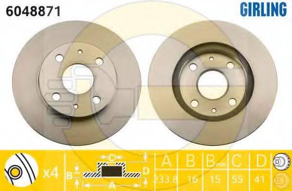 GIRLING 6048871 Тормозной диск