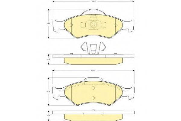 GIRLING 6114182 Комплект тормозных колодок, дисковый тормоз