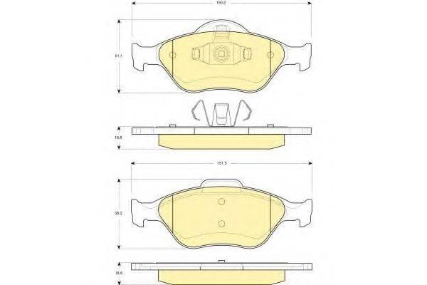GIRLING 6114192 Комплект тормозных колодок, дисковый тормоз