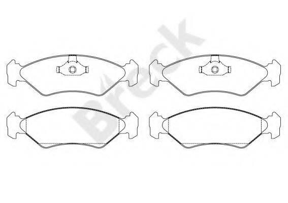 BRECK 212020070200 Комплект тормозных колодок, дисковый тормоз