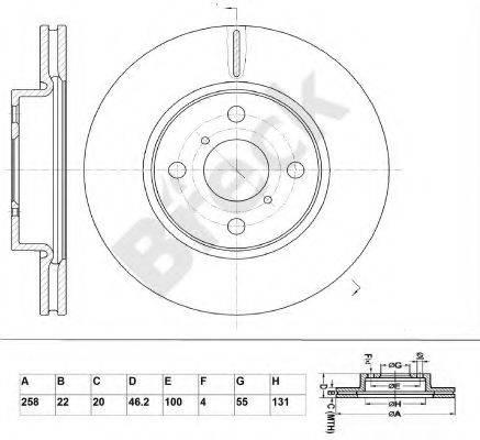 BRECK BR387VA100 Тормозной диск