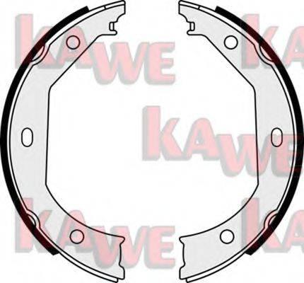KAWE 08090 Комплект тормозных колодок, стояночная тормозная система