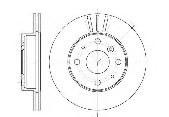 KAWE 6109510 Тормозной диск
