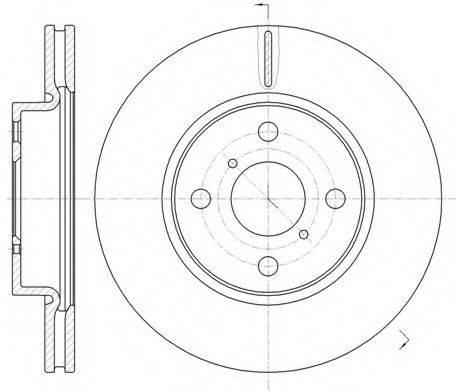 KAWE 6116910 Тормозной диск