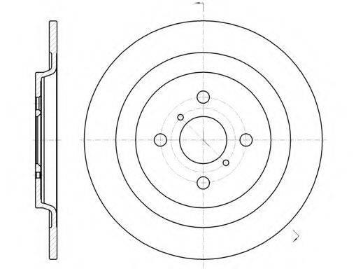 KAWE 6117300 Тормозной диск