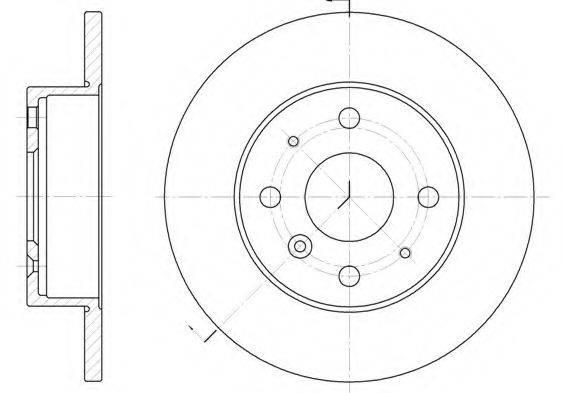 KAWE 636300 Тормозной диск