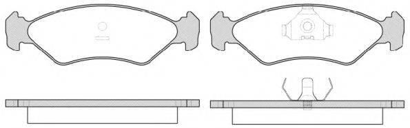 KAWE 028515 Комплект тормозных колодок, дисковый тормоз
