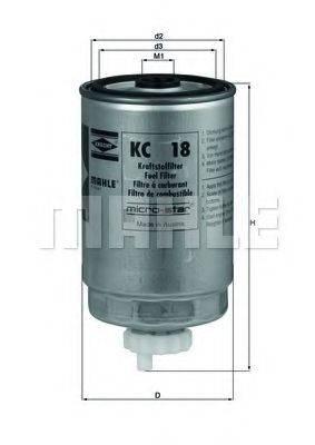 MAHLE ORIGINAL KC18 Топливный фильтр