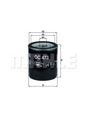 MAHLE ORIGINAL OC473 Масляный фильтр