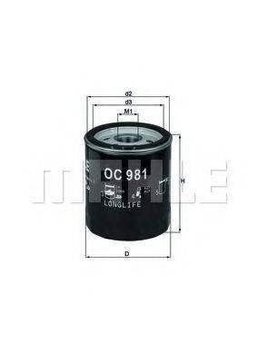 MAHLE ORIGINAL OC981 Масляный фильтр