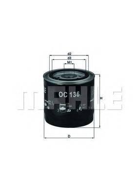 MAHLE ORIGINAL OC136 Масляный фильтр