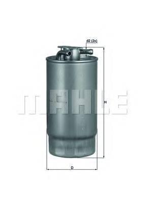 MAHLE ORIGINAL KL1601 Топливный фильтр