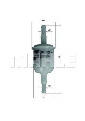 MAHLE ORIGINAL KL13OF Топливный фильтр
