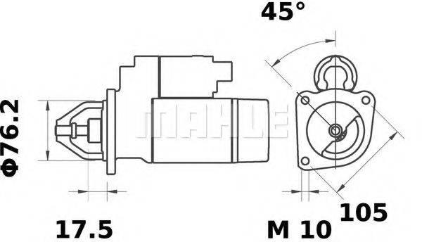 MAHLE ORIGINAL MS56 Стартер