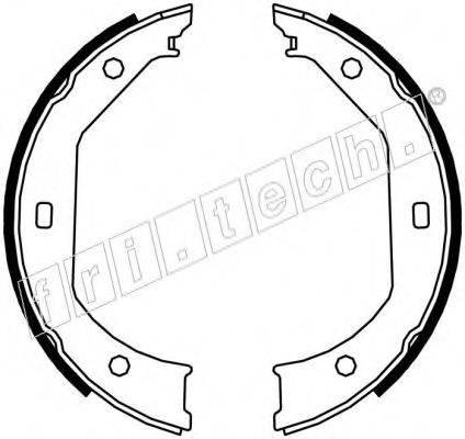 FRI.TECH. 1019027 Комплект тормозных колодок, стояночная тормозная система