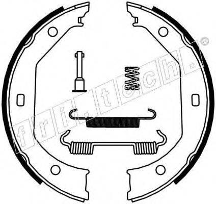 FRI.TECH. 1019027K Комплект тормозных колодок, стояночная тормозная система
