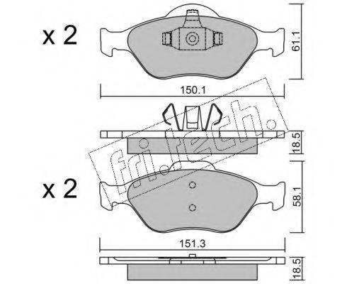 FRI.TECH. 3250 Комплект тормозных колодок, дисковый тормоз