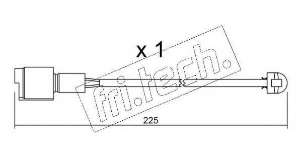 FRI.TECH. SU075 Сигнализатор, износ тормозных колодок