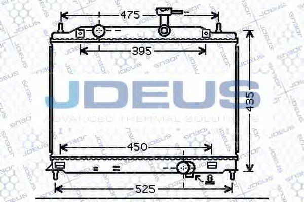 JDEUS 054M33 Радиатор, охлаждение двигателя