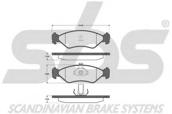 SBS 1501222535 Комплект тормозных колодок, дисковый тормоз