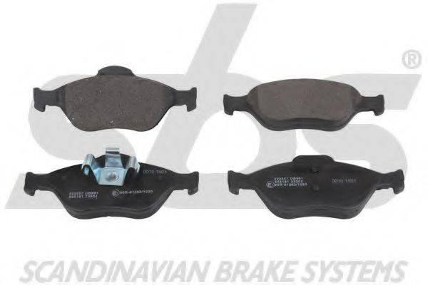 SBS 1501222557 Комплект тормозных колодок, дисковый тормоз