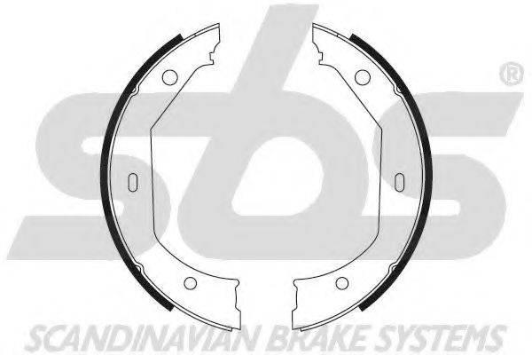 SBS 18492715638 Комплект тормозных колодок; Комплект тормозных колодок, стояночная тормозная система