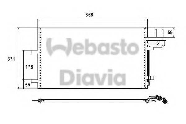 WEBASTO 82D0226210MA Конденсатор, кондиционер