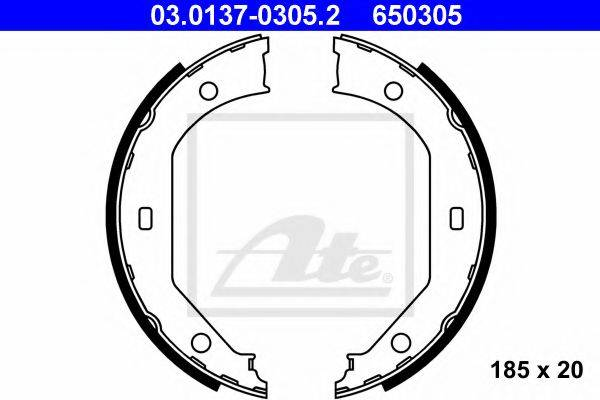 ATE 03013703052 Комплект тормозных колодок, стояночная тормозная система