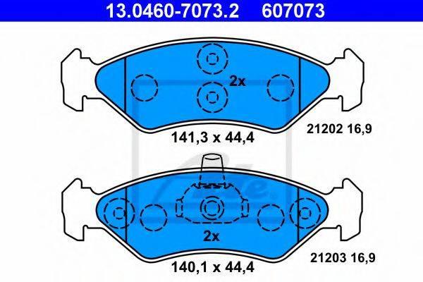 ATE 13046070732 Комплект тормозных колодок, дисковый тормоз