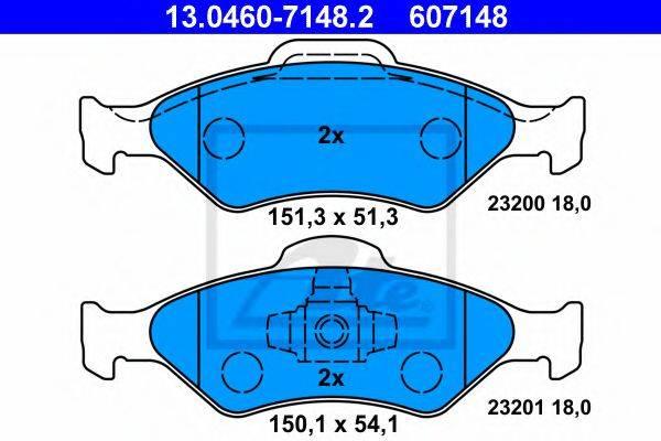 ATE 13046071482 Комплект тормозных колодок, дисковый тормоз