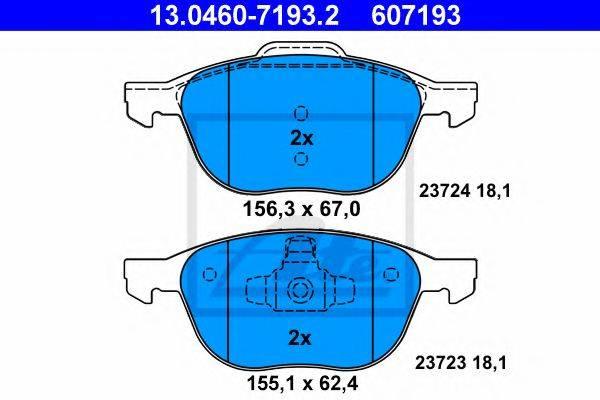 ATE 13046071932 Комплект тормозных колодок, дисковый тормоз