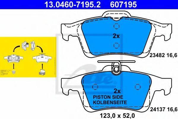ATE 13046071952 Комплект тормозных колодок, дисковый тормоз