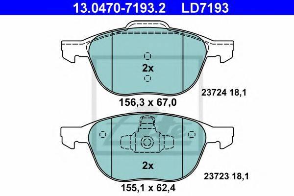 ATE 13047071932 Комплект тормозных колодок, дисковый тормоз