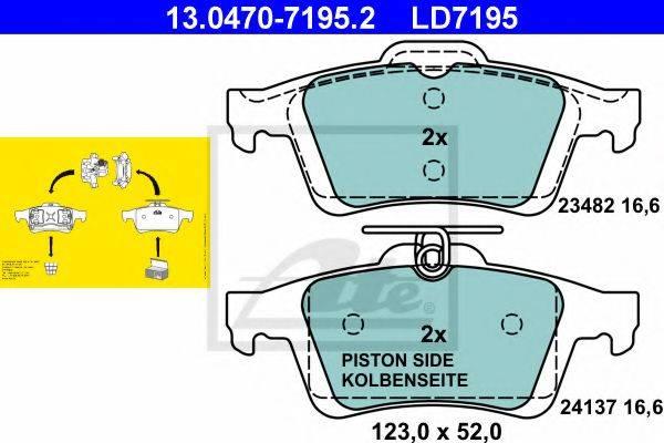 ATE 13047071952 Комплект тормозных колодок, дисковый тормоз