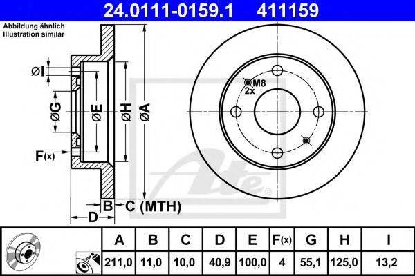 ATE 24011101591 Тормозной диск