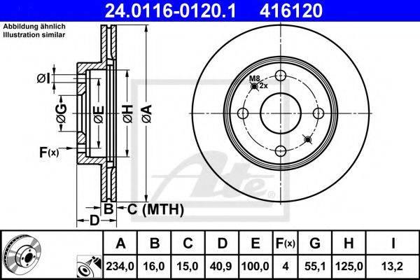 ATE 24011601201 Тормозной диск