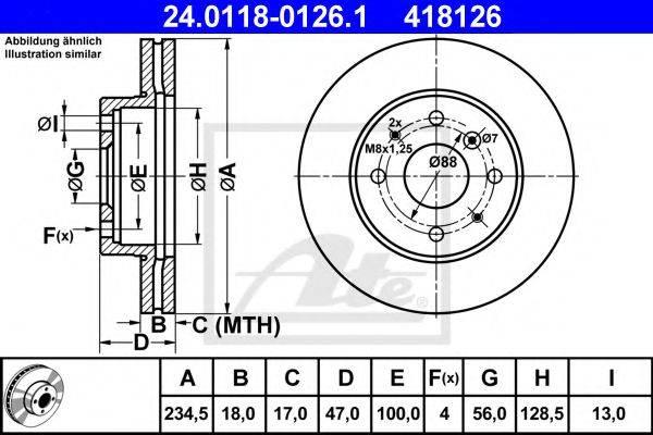 ATE 24011801261 Тормозной диск