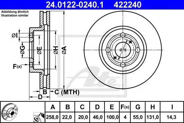 ATE 24012202401 Тормозной диск