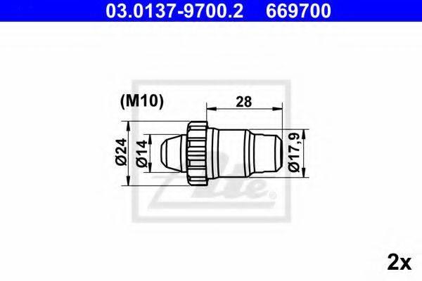 ATE 03013797002 Комплектующие, стояночная тормозная система