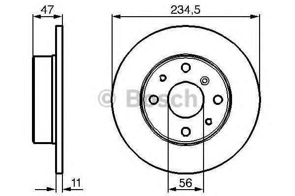 BOSCH 0986478500 Тормозной диск
