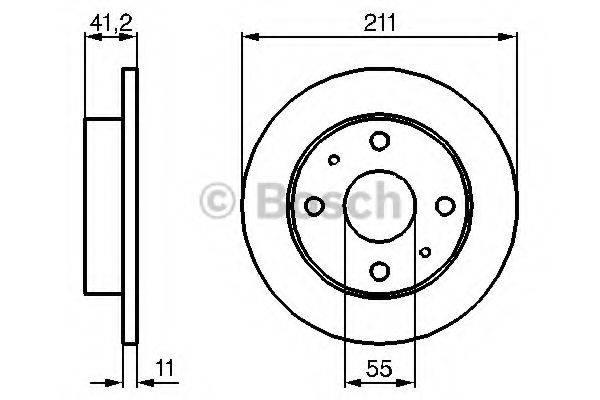 BOSCH 0986479119 Тормозной диск