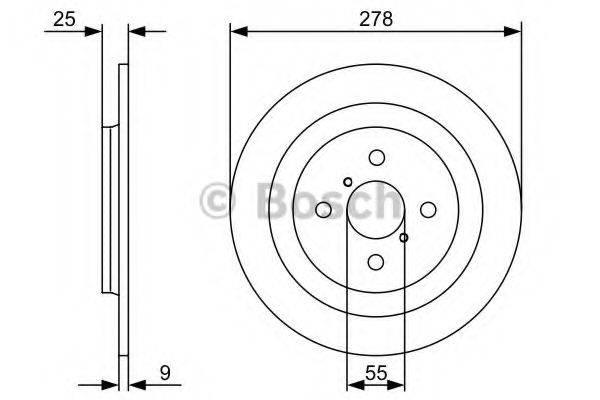 BOSCH 0986479C05 Тормозной диск